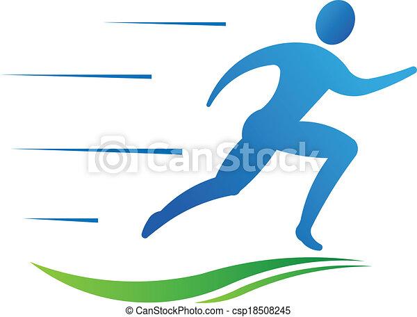 sport, ember, állóképesség, futás, fast. - csp18508245