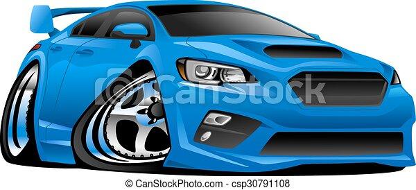 sport, import, illustrati, modern, autó - csp30791108