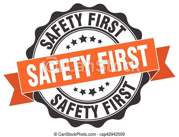stamp., cégtábla., fóka, először, biztonság - csp42942509