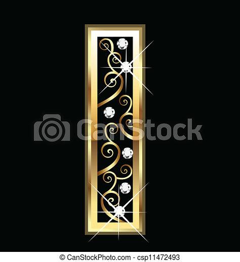 swirly, dísztárgyak, arany, levél - csp11472493