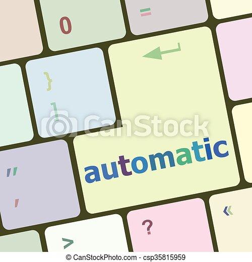 számítógép, gombol, ábra, vektor, kulcs, billentyűzet, automata - csp35815959