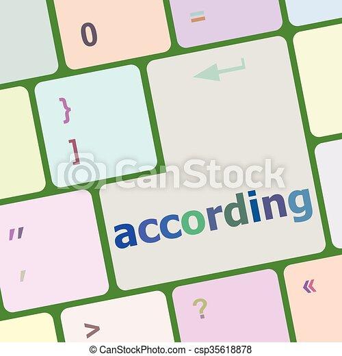számítógép, gombol, beír, szerint, ábra, vektor, kulcs, billentyűzet - csp35618878