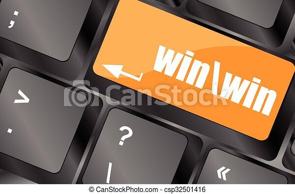 számítógép, győz, gombol, billentyűzet, ábra, vektor, kulcs - csp32501416