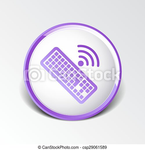 számítógép, illustration., aláír, vektor, kulcs, billentyűzet, ikon - csp29061589