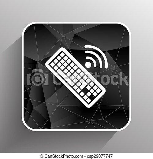 számítógép, illustration., aláír, vektor, kulcs, billentyűzet, ikon - csp29077747