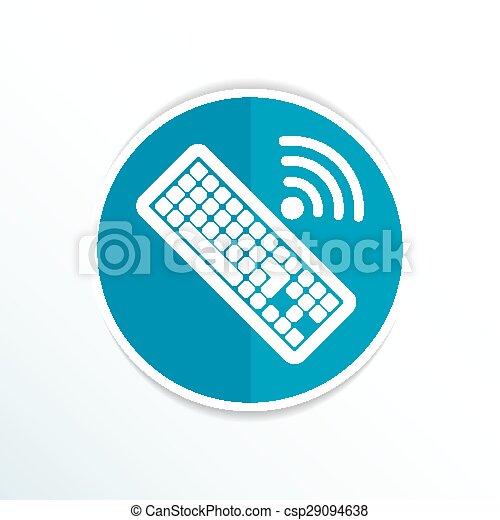 számítógép, illustration., aláír, vektor, kulcs, billentyűzet, ikon - csp29094638