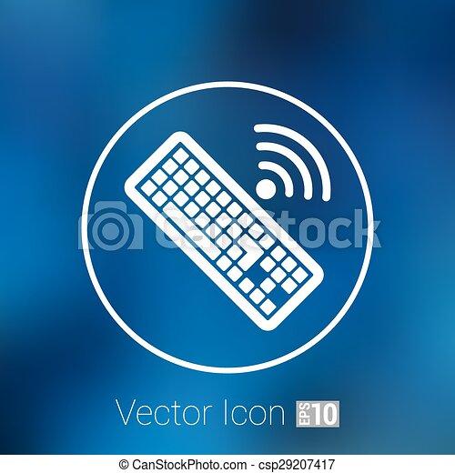 számítógép, illustration., aláír, vektor, kulcs, billentyűzet, ikon - csp29207417