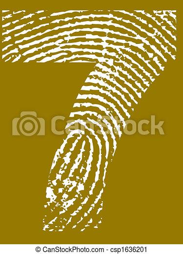 szám 7, ujjlenyomat - csp1636201