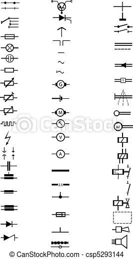 számos, kiterjedt, lista, elektromos, cégtábla - csp5293144