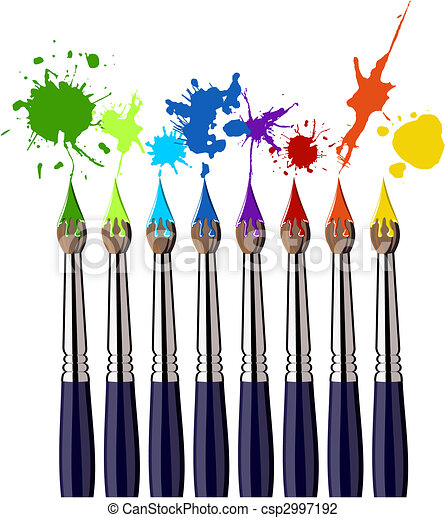 szín, festék csalit, loccsanás - csp2997192