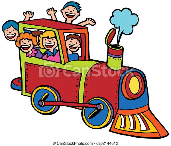 szín, lovagol, kiképez, karikatúra - csp2144612
