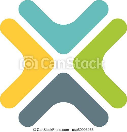 színes, design., vektor, 10., eps, ábra, jel, kereszt, sablon - csp80998955