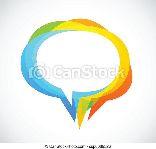 színes, elvont, -, beszéd, háttér, buborék - csp6689526