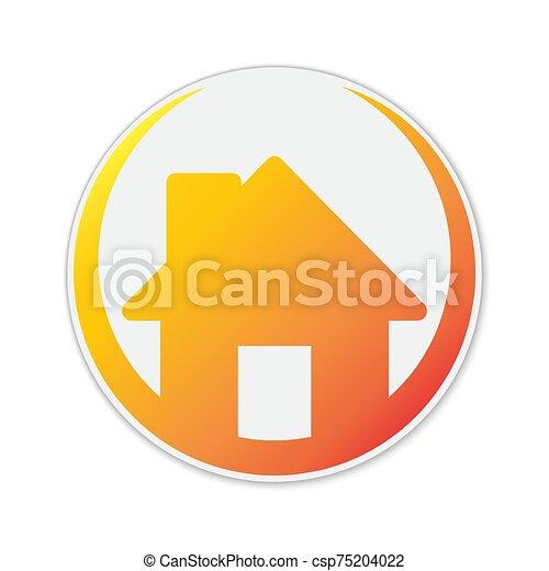 színes, icon., épület, vektor - csp75204022