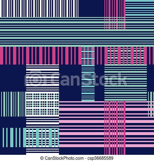 színes, motívum, megvonalaz, seamless, kereszt, fényes - csp36685589