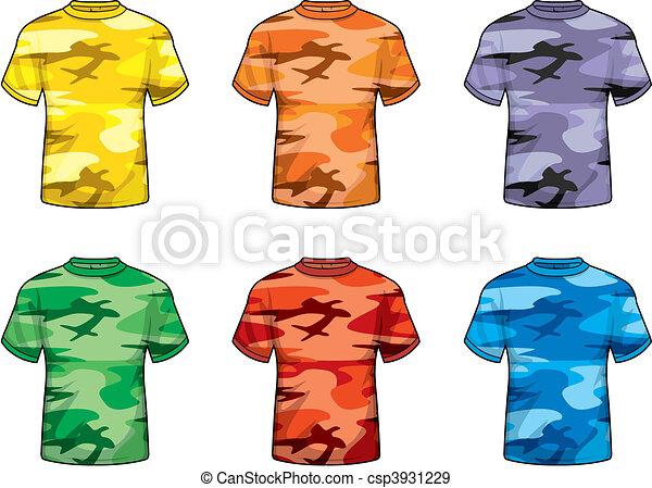 színezett, álcáz, ing - csp3931229