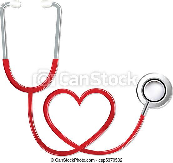 szív alakzat, sztetoszkóp - csp5370502