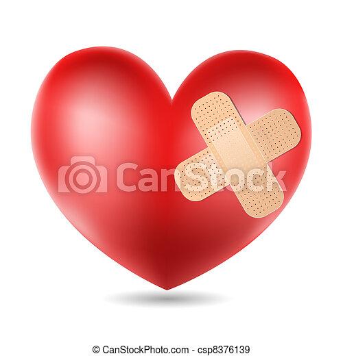 szív, bevakol - csp8376139