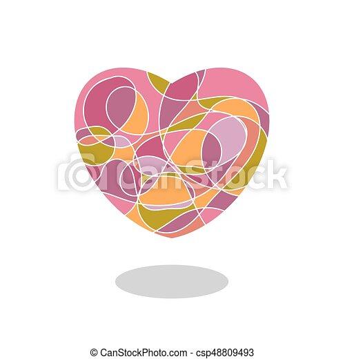 szív, csepp, elszigetelt, vagy, alakít, jel, fehér, árnyék, mózesi, ikon - csp48809493