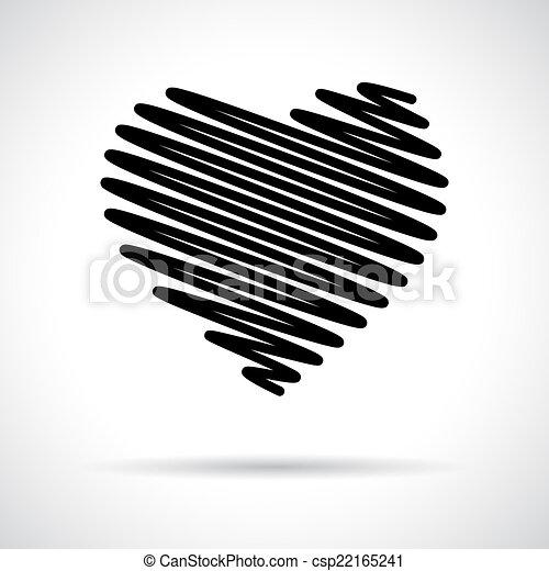 szív, icon. - csp22165241