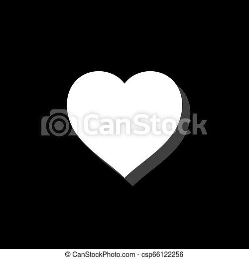 szív, ikon, lakás - csp66122256