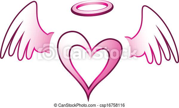szív, kasfogó, angyal - csp16758116