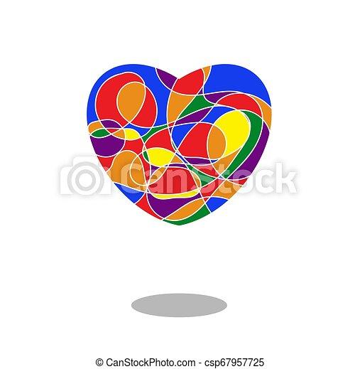 szív, szivárvány, festett, jelkép, lobogó, elszigetelt, lgbt, befest, white., mózesi - csp67957725