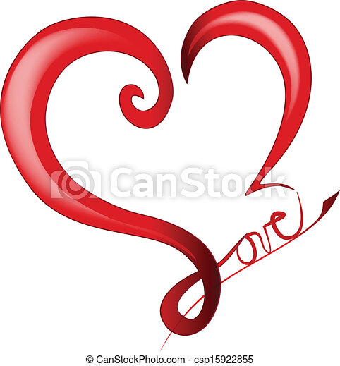 szív, valentines, fényes, nap, jel - csp15922855
