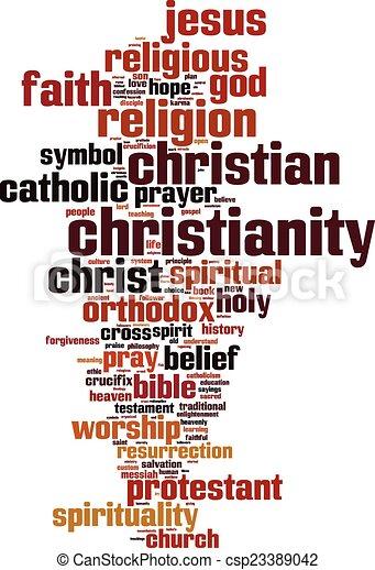 szó, felhő, kereszténység - csp23389042