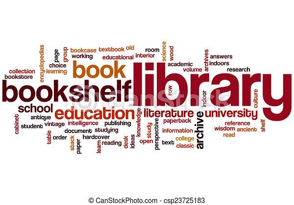 szó, könyvtár, felhő - csp23725183