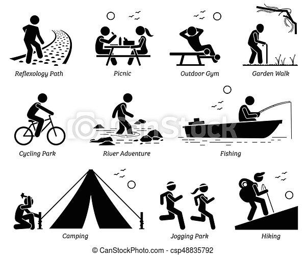 szórakozási, életmód, outdoor pihenés, activities. - csp48835792