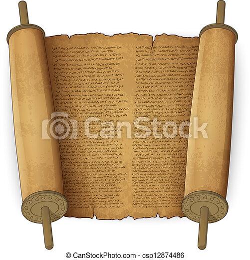 szöveg, ősi, cikornyázik - csp12874486