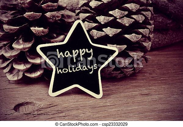 szöveg, tábla, wh, fekete, star-shaped, ünnepek, boldog - csp23332029