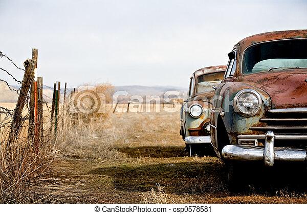 szüret, autók - csp0578581