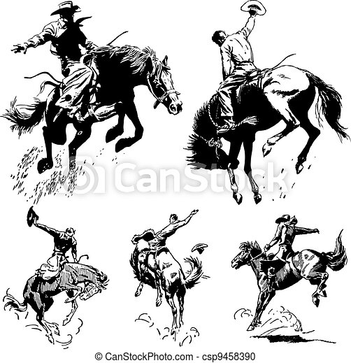 szüret, rodeó, vektor, grafika - csp9458390