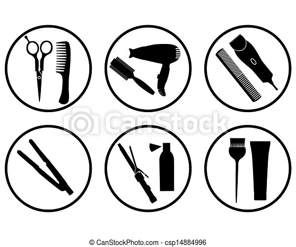 szőr salon, ikon - csp14884996