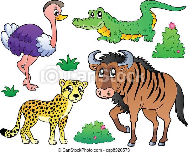 szavanna, 2, állatok, gyűjtés - csp8320573