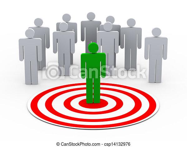 személy, kiválasztás, csoport, 3, emberek - csp14132976