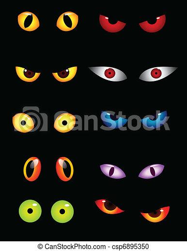 szemek, állhatatos, állat - csp6895350