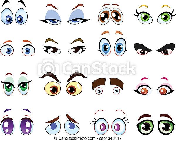 szemek, karikatúra - csp4340417