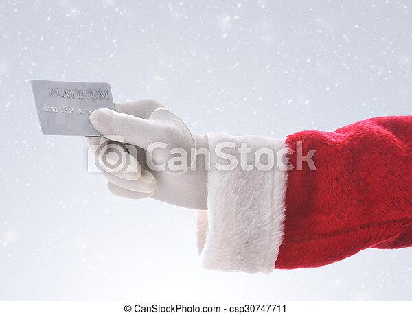 szent, hitelkártya, háttér, havas - csp30747711
