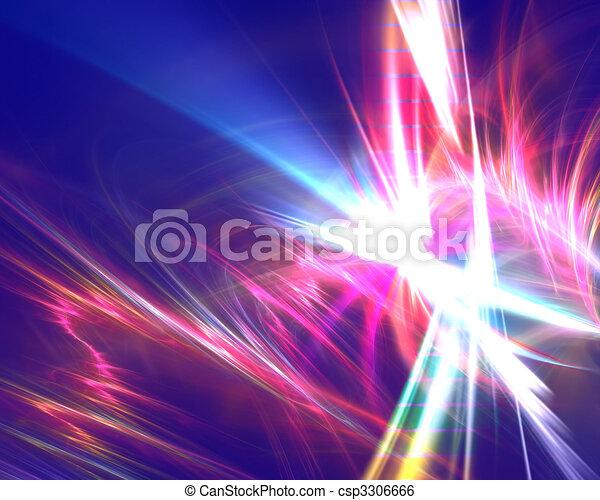szivárvány, fractal, elektromos - csp3306666