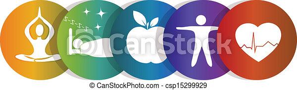 szivárvány jelkép, egészség - csp15299929
