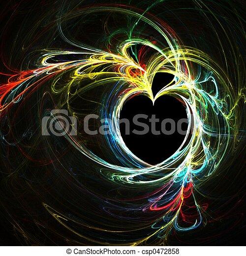 szivárvány, szív - csp0472858