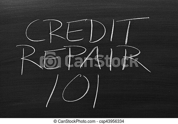 tábla, 101, hitel, rendbehozás - csp43956334