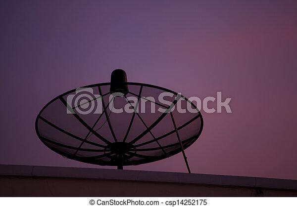 tál, mellékbolygó, napnyugta - csp14252175