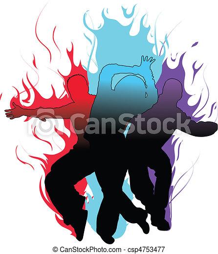 táncosok, lángoló - csp4753477
