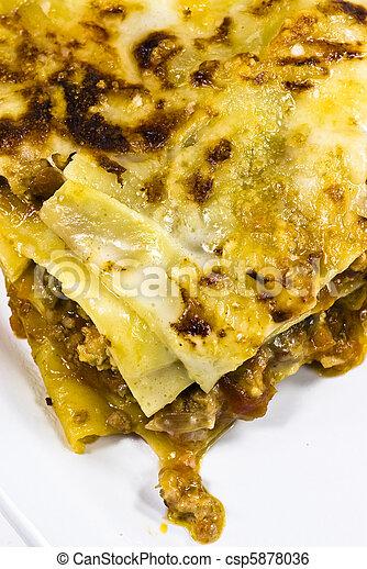 tányér, lasagna, olasz - csp5878036
