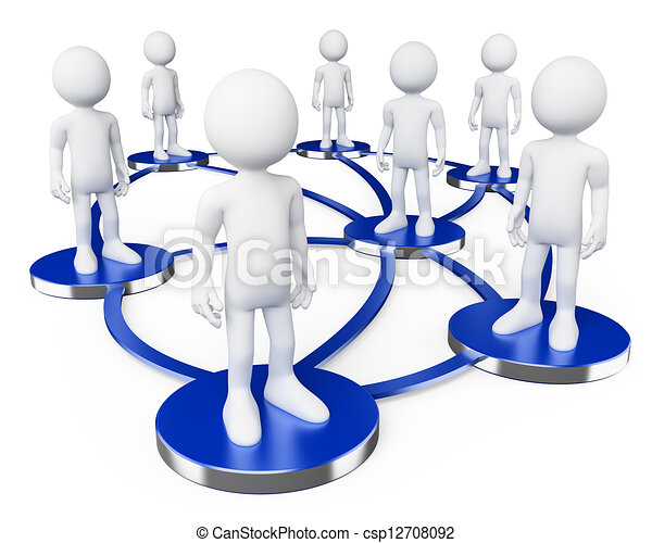 társadalmi, hálózat, emberek., 3, fehér - csp12708092