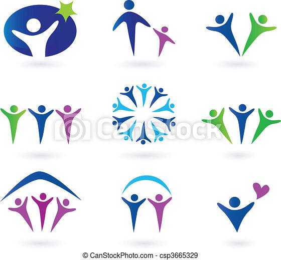 társadalmi, közösség, hálózat, ikonok - csp3665329
